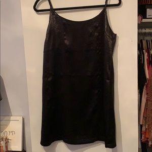 Silk black mini dress